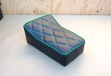 "10"" X 7"" BLACK/GREEN MINIBIKE SEAT MINI BIKE SCOOTER ASUZA ATLAS ATTEX BIRD TACO"
