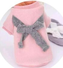 """9.8"""" Small Winter Cosy Dog Puppy Coat Chihuahua umper Pink Bow"""