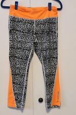 Nike Dri-fit Reflective Yoga/exercise Pants M Animal Print /Orange,Zipper Pkt