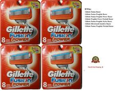 32 Gillette Fusion Power Cartridges Razor blades 8*4 Shaver Fits Flexball USA
