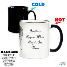 Feathers Appear When Angels Are Near Magic Mug | Colour Changing Mugs | Love