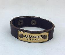 New Assassin's Creed Leather Bracelet Jewelry Wrist Wrap, Genuine Leather
