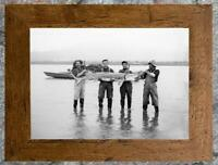 Remarkable... Men Holding Large Sturgeon , Fishing  ... Antique 5x7 Photo Print