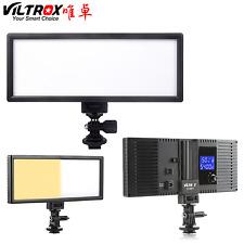 Viltrox 132 LED Slim LCD Bi-Color Dimmable Camera Studio Video Light for DSLR