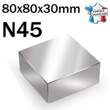 SUPER AIMANT MAGNET NEODYM N45 - 80x80x30mm - 400Kg