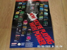 Nintendo NES Now You're Playing With Power 1990 Promo Poster / Insert