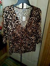 NWT's Star Vixen top shirt animal print travel fluid knit womens size 1X