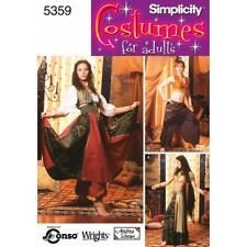 Simplicity Misses Belly Dancing Costumes Fabric Sewing Patterns 5359