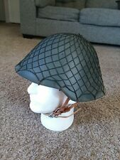 East German Ddr Combat Helmet With Net - 1958 shell!