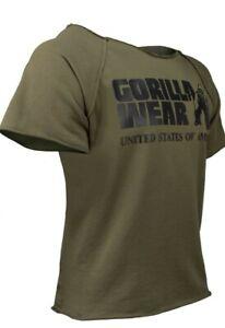 🦍 UK 2XL/3XL Gorilla Wear Classic Workout top. Gym. Brand new+tags. Green.Golds