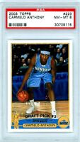 CARMELO ANTHONY 2003-04 Topps Rookie Card RC PSA 8 NM-MT #223