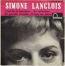 "SIMONE LANGLOIS ""LES MIRETTES"" 50'S EP FONTANA 460.609 BORIS VIAN !"
