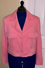 Anne Klein Pink Jacket Size 12, Pre-owned