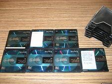 Leere Disc  7 x  Sony MD   (244 Pink )  Türkis . Leer od. gelöscht