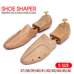 Adjustable Wooden Shoe Tree Shaper Keeper Wood Stretcher UNISEX AU STOCK