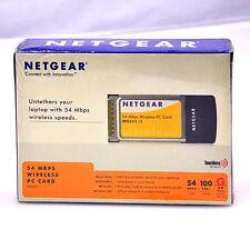NetGear 54 Mbps Wireless PC Card (WG511VCNA) 2.4 GHz 802.11g WG511 Wifi Internet