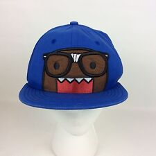 Domo I Heart Nerds Black Glasses Blue Flat Bill Youth Size Fitted Hat