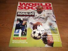 Football Magazine World Soccer May 2004 Ronaldo Euros Olsson Kahn Brazil Cassano