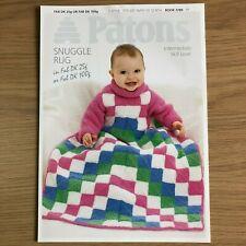 Patons Fab DK Childs Snuggle Rug Knitting Pattern 3789