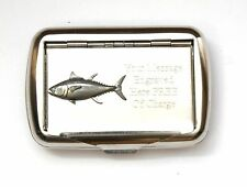 Tuna Fish Tobacco Hand Rolling Ups Cigarette Tin FREE ENGRAVING Fishing Gift