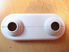 Doppelrosette 2-teilig flach Rohrabstand 50mm für Rohre mit ø 10 - 22 mm Simplex