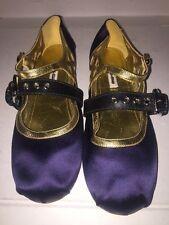 Women's Miu Miu Double-Strap Satin Ballet Flats Size 37.5 $690