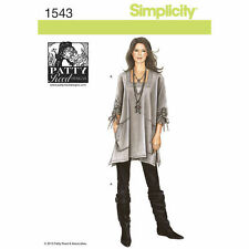 Simplicity 1543 Sewing Pattern Misses Size 4 -26 Loose Fit Tunic Knit Slim Pant