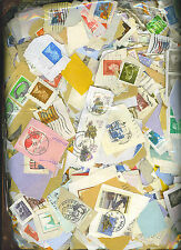 20,000+ MIXED WORLD STAMPS ON PAPER, (5kg) FREE SHIPPING