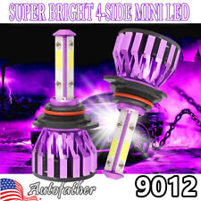 2X 9012 9006 LED Headlight 6000K 2000W 300000LM 4-Side High OR Low Beam Bulbs