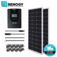 Renogy 200 Watt Solar Panel Starter Kit MPPT Off Grid Battery Charging System RV