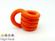 TANGLE JNR CREATION ORANGE FIDDLE FIDGET SENSORY PUZZLE TOY AUTISM, ADHD, STRESS
