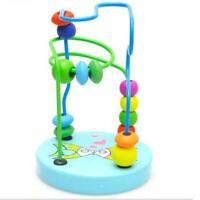 Baby Kids Wooden Around Beads Interactive Early Educational Game Toys Gifts AU