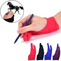 Guante antiincrustante 2 dedos para almohadilla tableta gráfica de dibujo pluma