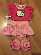 Build a bear Hello Kitty Top skirt & Shoes outfit
