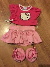 Build a Bear Hello Kitty Haut Jupe & chaussures tenue
