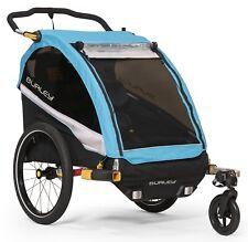 Burley D'Lite X Kids Bike Bicycle Trailer Double Stroller Aqua New 2019