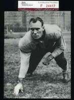 Frank Bruiser Kinard Jsa Coa Autograph Hand Signed Vintage 4x6 Photo