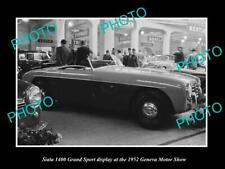OLD 6 X 4 HISTORIC PHOTO OF SIATA 1400 GRANDSPORT 1952 GENEVA MOTOR SHOW DISPLAY