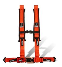 "Dragonfire Racing Orange H-Style 4 Point 2"" Seat Belt Harness Sewn In Universal"