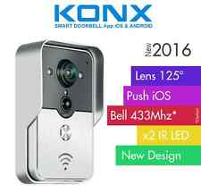 KONX® 2016 Doorbell Interphone Portier Video IP Réseau Wifi RJ45 + Relais porte