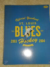 NHL's St. Louis Blues 2003-04 Official Season Yearbook Ft MacInnis, Tkachuk +!