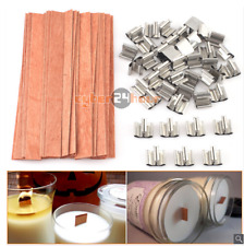 40Pcs set Wooden Wax Candle Works Core Sustainers Handmade Wax Candle Parts