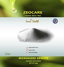 Zeocare Micronized Zeolite Supplement, Detox Powder, Net Weight 400 grams.