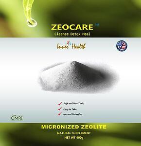 Zeocare Micronized Zeolite Supplement, Detox Powder, Net Weight 400 grams.