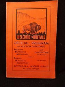 1947 AMERICAN NUMISMATIC ASSOCIATION Convention Program Buffalo NY Hotel Statler