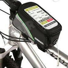 Fahrrad-Halterung für alle Handy Smartphone bis 5,5 Zoll Rahmentasche Bike Rad g