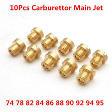 10Pcs M6 Thread 6mm motorcycle Main Jet Kit for Carb Carburetor 10 Size