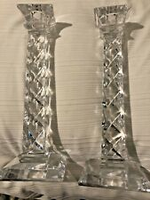 "Tall Large Glass Candle Sticks Holders 7 1/2"" Home Decor READ DESC! WORLD Ship"