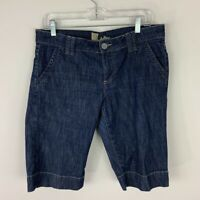 KUT From The Kloth Womens Bermuda Jean Shorts Blue Dark Wash Stretch Denim 6