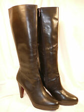 New Colin Stuart Black Leather Zipper Platform Boots 10B Victoria's Secret